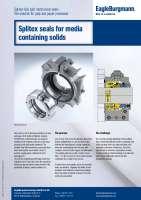 Solution: Splitex split seals for media containing solids